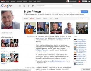 Google+ Profile - Marc A. Pitman, FundraisingCoach.com