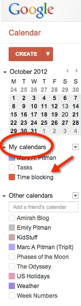 Creating multiple calendars can focus your scheduling