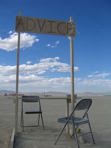 Advice booth picture used for major gift fundraising blog, taken by laughlin on Flicker http://www.flickr.com/photos/wurzle/