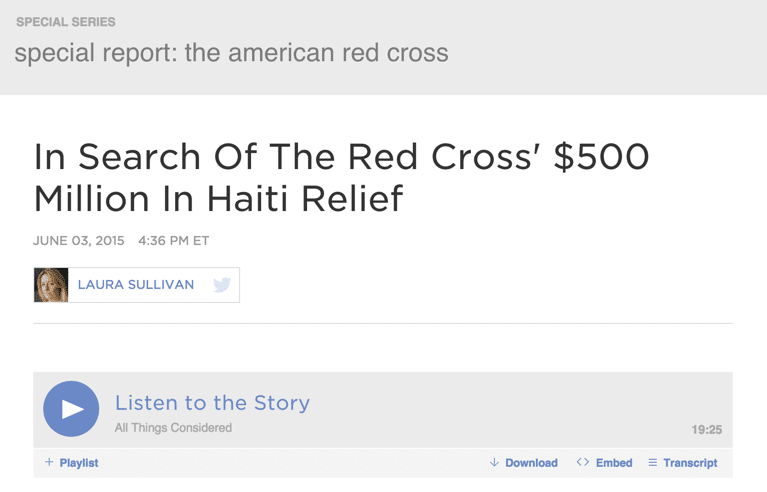 The Red Cross and Glass Houses