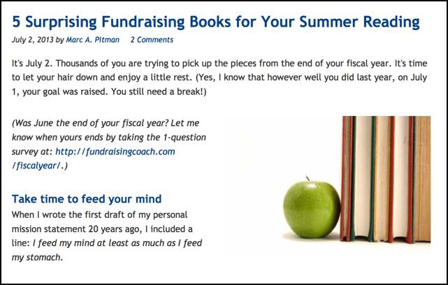 5 Surprising Fundraising Books