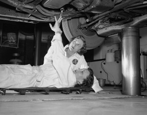 1957 oil change from FloridaMemory-noknowncopyright