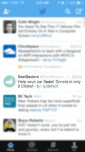 Twitter Post About Mobile Fundraising