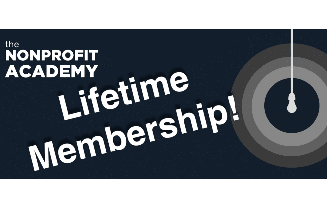 Nonprofit Academy Lifetime 2019 Membership Special!