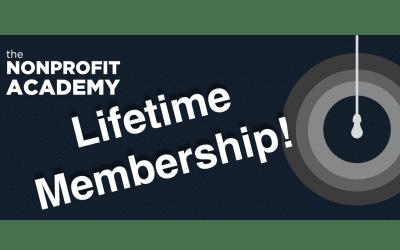 Nonprofit Academy Lifetime 2019 Membership Special!