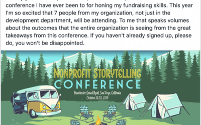 Why you should come to the Nonprofit Storytelling Conference? Alumni tell you.