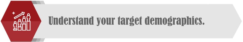 Research your target demographics to fundraise across the generations.