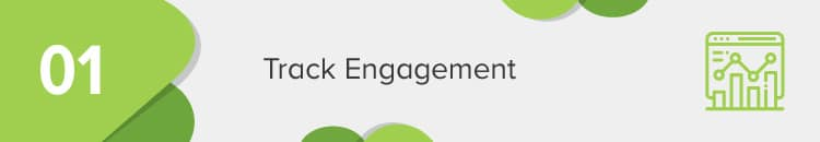 Track donor engagement