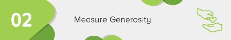 Measure donor generosity