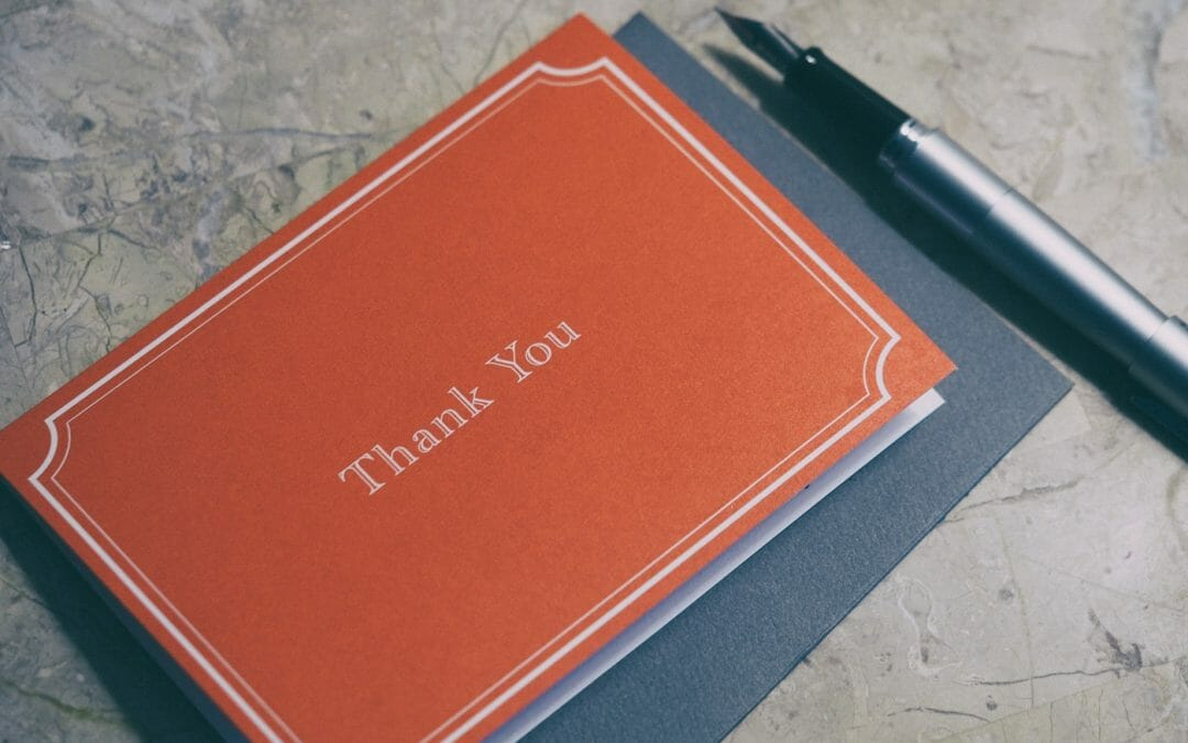 Thanking donors is NOT an activity report