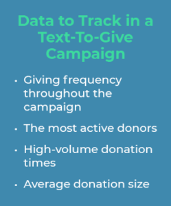 Data to Track in a Text-To-Give Campaign